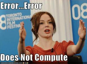 error error does not compute